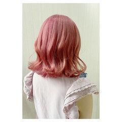 大人女子 セミロング 大人かわいい フェミニン ヘアスタイルや髪型の写真・画像