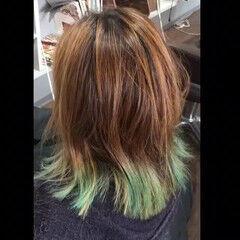 カラートリートメント エレガント ブリーチ ブリーチ必須 ヘアスタイルや髪型の写真・画像