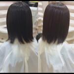 鎖骨ミディアム ナチュラル 髪質改善カラー 髪質改善