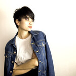 暗髪 ショート 黒髪 モード