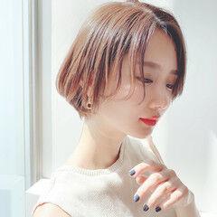 モテ髪 透明感 ゆるふわ ショートヘア ヘアスタイルや髪型の写真・画像