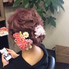 ガーリー ふわふわヘアアレンジ ミディアム ヘアアレンジ ヘアスタイルや髪型の写真・画像
