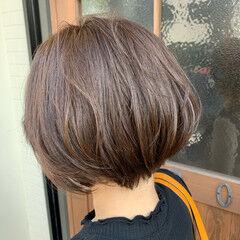 ナチュラルブラウンカラー ボブ ブラウンベージュ ナチュラル ヘアスタイルや髪型の写真・画像