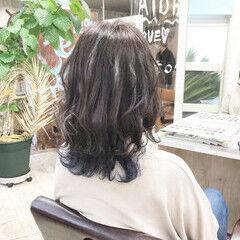 ナチュラル ミディアム #インナーカラー ヘアスタイルや髪型の写真・画像