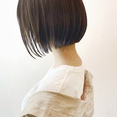 重軽 ボブ ナチュラル インナーカラー ヘアスタイルや髪型の写真・画像