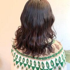 カシスレッド チェリーレッド カシスカラー レッドブラウン ヘアスタイルや髪型の写真・画像