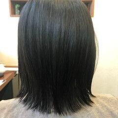 無造作ヘア ナチュラル サラサラ 切りっぱなしボブ ヘアスタイルや髪型の写真・画像
