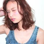 大人かわいい 艶髪 フェミニン ミディアム