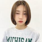 韓国ヘア ミニボブ 艶カラー ボブ