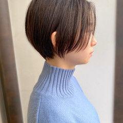 簡単スタイリング ショート 耳かけ 大人かわいい ヘアスタイルや髪型の写真・画像
