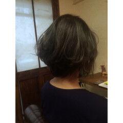 ブルージュ ボブ 耳かけ 外国人風カラー ヘアスタイルや髪型の写真・画像