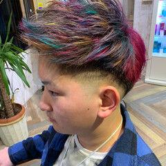 ブリーチ レインボーカラー ハイトーンカラー 派手髪 ヘアスタイルや髪型の写真・画像