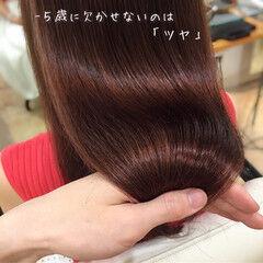ロング ナチュラル トリートメント 髪質改善トリートメント ヘアスタイルや髪型の写真・画像