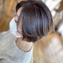 前下がりショート 大人女子 ショートボブ エレガント ヘアスタイルや髪型の写真・画像