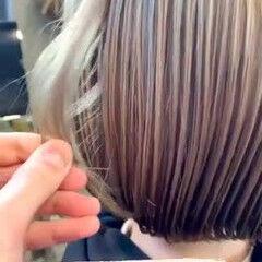 ボブ ナチュラル ブロンドカラー ブリーチ ヘアスタイルや髪型の写真・画像