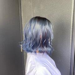 韓国 ミディアム ストリート 韓国風ヘアー ヘアスタイルや髪型の写真・画像