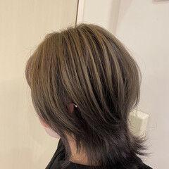 グレージュ シルバー アッシュグレージュ ボブ ヘアスタイルや髪型の写真・画像