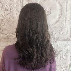 大人女子 ナチュラル ブリーチ無し グレージュ ヘアスタイルや髪型の写真・画像