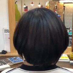しっとり ショート サラサラ ツヤツヤ ヘアスタイルや髪型の写真・画像