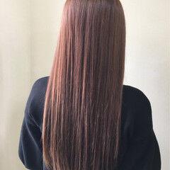 ピンク 大人かわいい コーラル イルミナカラー ヘアスタイルや髪型の写真・画像