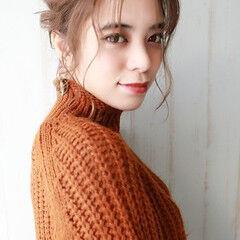 ナチュラル セルフアレンジ セルフヘアアレンジ 簡単ヘアアレンジ ヘアスタイルや髪型の写真・画像