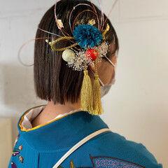 和装髪型 卒業式 切りっぱなしボブ ボブ ヘアスタイルや髪型の写真・画像