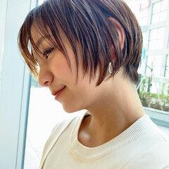PEEK-A-BOO グラボブ ナチュラル 似合わせカット ヘアスタイルや髪型の写真・画像