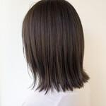 ボブ 髪質改善トリートメント 透明感カラー 切りっぱなしボブ