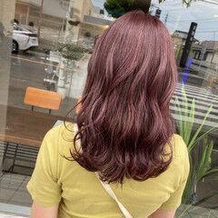 ラベンダーピンク ナチュラル可愛い ピンク 大人可愛い ヘアスタイルや髪型の写真・画像