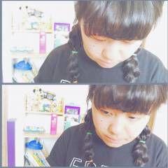 アンニュイ 三つ編み ヘアアレンジ 個性的 ヘアスタイルや髪型の写真・画像