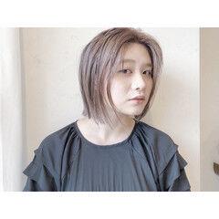 ミニボブ ミルクティーグレージュ ミルクティーベージュ ナチュラル ヘアスタイルや髪型の写真・画像