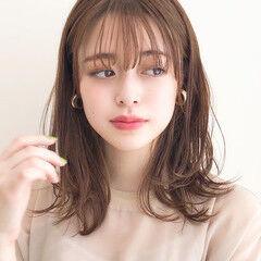 ミディアム ヘアアレンジ デート ナチュラル ヘアスタイルや髪型の写真・画像