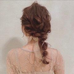 ロング ガーリー 結婚式ヘアアレンジ ふわふわヘアアレンジ ヘアスタイルや髪型の写真・画像