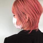 ウルフカット モード ピンクアッシュ ショートヘア