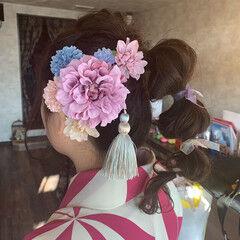 結婚式ヘアアレンジ 卒業式 たまねぎアレンジ アンニュイほつれヘア ヘアスタイルや髪型の写真・画像