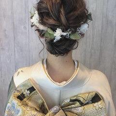 成人式 結婚式 エレガント ボブ ヘアスタイルや髪型の写真・画像