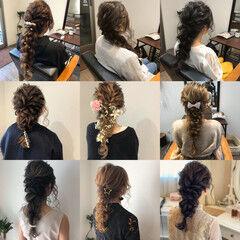 フェミニン ヘアアレンジ ロング 成人式ヘア ヘアスタイルや髪型の写真・画像