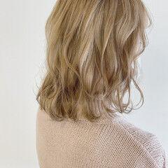 ブリーチオンカラー ナチュラル 透明感カラー シナモンベージュ ヘアスタイルや髪型の写真・画像