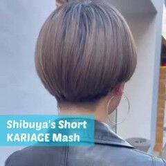 ショート 刈り上げショート ショートマッシュ モード ヘアスタイルや髪型の写真・画像