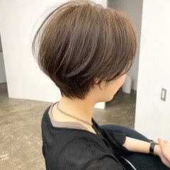 ナチュラル ショート ショートボブ アンニュイ ヘアスタイルや髪型の写真・画像