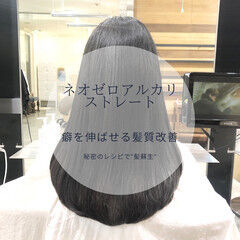 前髪 ストレート ナチュラル 髪質改善 ヘアスタイルや髪型の写真・画像