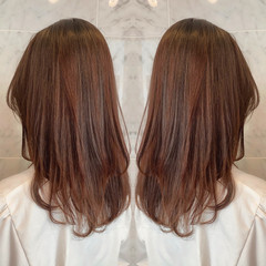 オーガニックカラー 似合わせカット ゆるふわ ロング ヘアスタイルや髪型の写真・画像