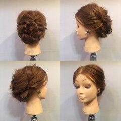 上品 エレガント ヘアアレンジ セミロング ヘアスタイルや髪型の写真・画像