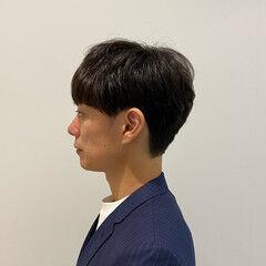 メンズ 絶壁カバー メンズパーマ ノースタイリング ヘアスタイルや髪型の写真・画像