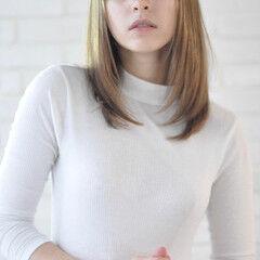 ロング ストレート ナチュラル モテ髪 ヘアスタイルや髪型の写真・画像