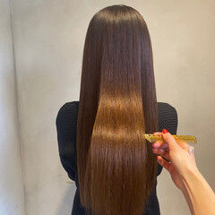 美髪 髪質改善トリートメント ナチュラル ツヤツヤ ヘアスタイルや髪型の写真・画像