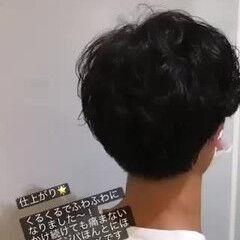 メンズマッシュ デジタルパーマ 無造作パーマ メンズパーマ ヘアスタイルや髪型の写真・画像