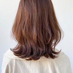 こなれ感 セミロング 大人かわいい ガーリー ヘアスタイルや髪型の写真・画像