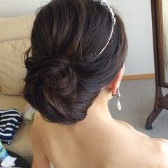 エレガント ヘアアレンジ 結婚式髪型 ふわふわヘアアレンジ ヘアスタイルや髪型の写真・画像