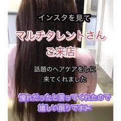 ロングヘア 艶髪 モデル ナチュラル ヘアスタイルや髪型の写真・画像